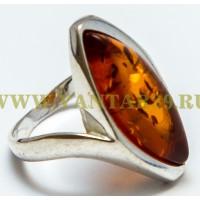 Кольцо с янтарем «Афродита» коньяк