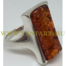 "Кольцо с янтарем ""Амадей"" коньяк"