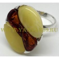 "Кольцо с янтарем ""Анемона"""